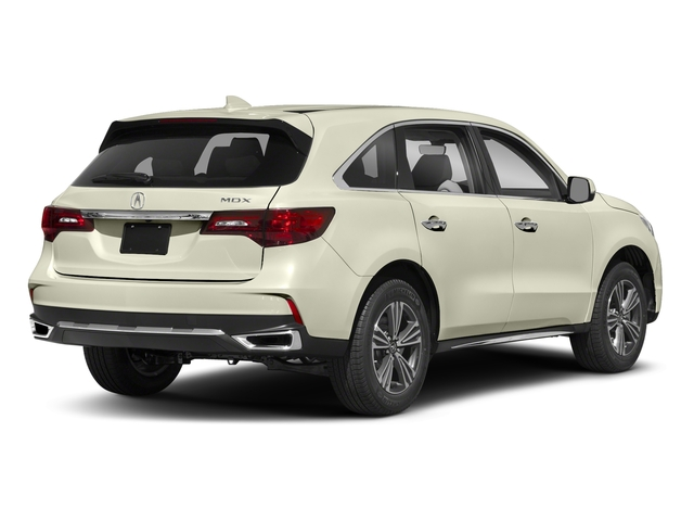 White Diamond Pearl 2018 Acura MDX Pictures MDX FWD photos rear view