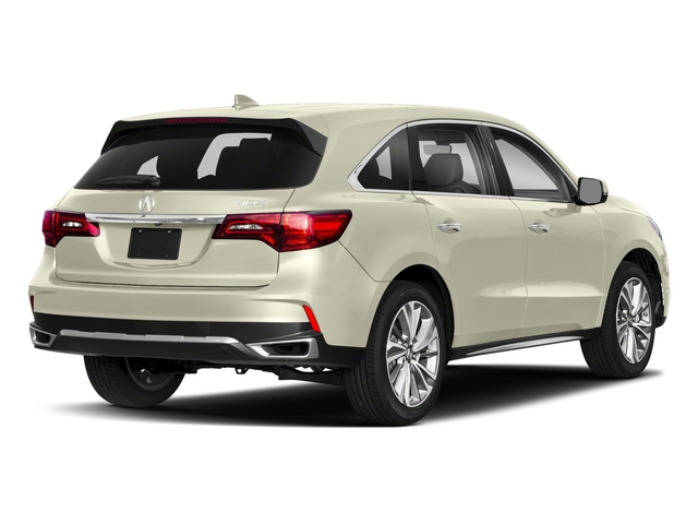 White Diamond Pearl 2018 Acura MDX Pictures MDX FWD w/Technology Pkg photos rear view