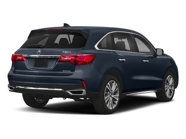 Fathom Blue Pearl 2018 Acura MDX Pictures MDX SH-AWD w/Technology/Entertainment Pkg photos rear view