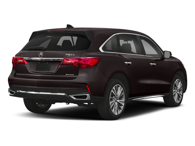 Black Copper Pearl 2018 Acura MDX Pictures MDX SH-AWD w/Technology/Entertainment Pkg photos rear view