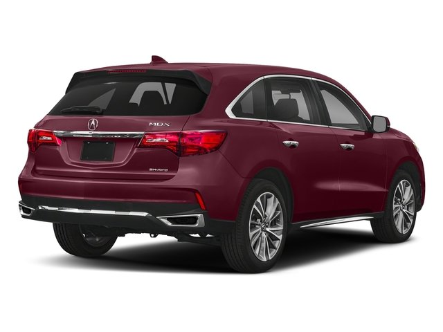 Basque Red Pearl II 2018 Acura MDX Pictures MDX Utility 4D Technology DVD AWD photos rear view