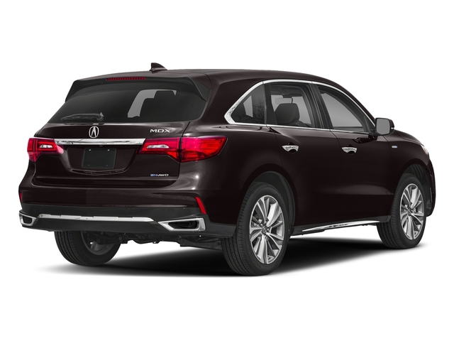 Black Copper Pearl 2018 Acura MDX Pictures MDX SH-AWD Sport Hybrid w/Technology Pkg photos rear view