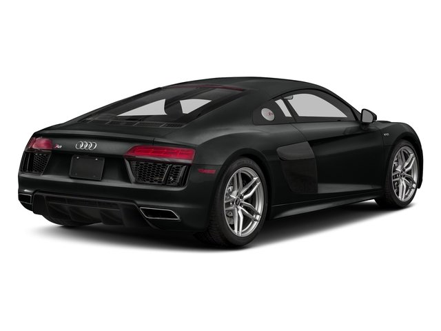 Mythos Black Metallic 2018 Audi R8 Coupe Pictures R8 Coupe V10 quattro AWD photos rear view
