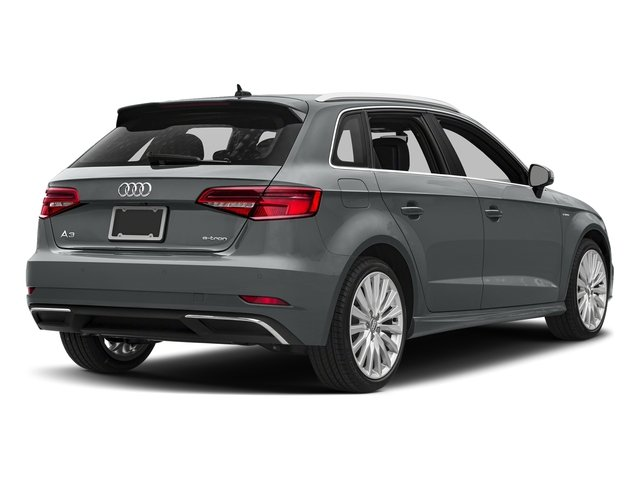 Monsoon Gray Metallic 2018 Audi A3 Sportback e-tron Pictures A3 Sportback e-tron 1.4 TFSI PHEV Premium photos rear view