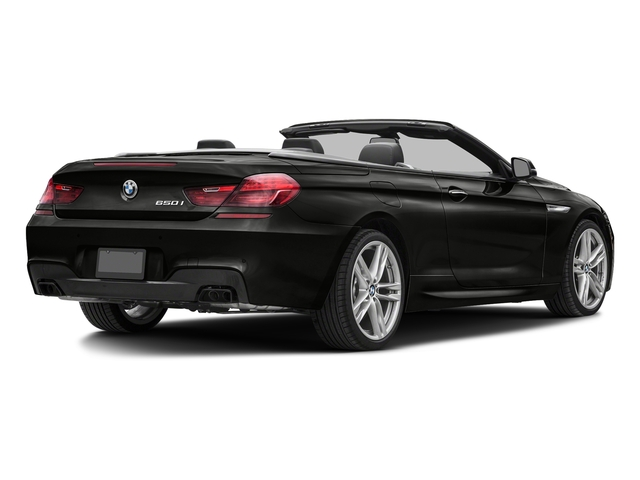 Citrin Black Metallic 2018 BMW 6 Series Pictures 6 Series 650i xDrive Convertible photos rear view