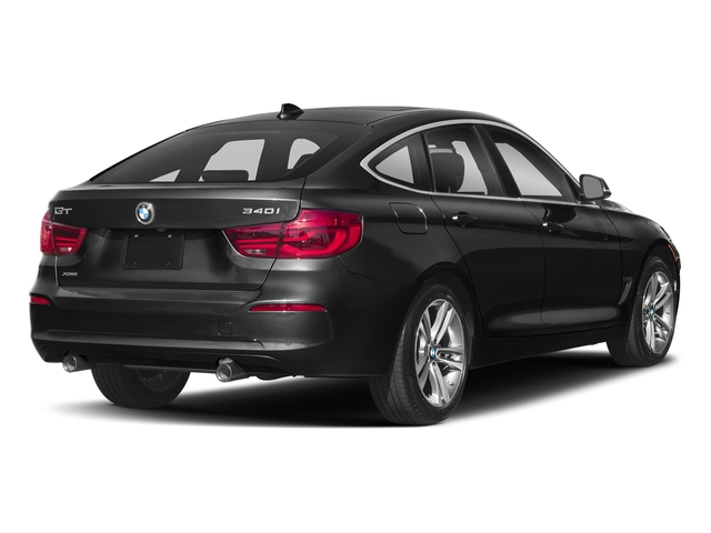 Black Sapphire Metallic 2018 BMW 3 Series Pictures 3 Series 340i xDrive Gran Turismo photos rear view