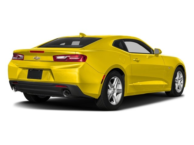 Bright Yellow 2018 Chevrolet Camaro Pictures Camaro 2dr Cpe LT w/2LT photos rear view