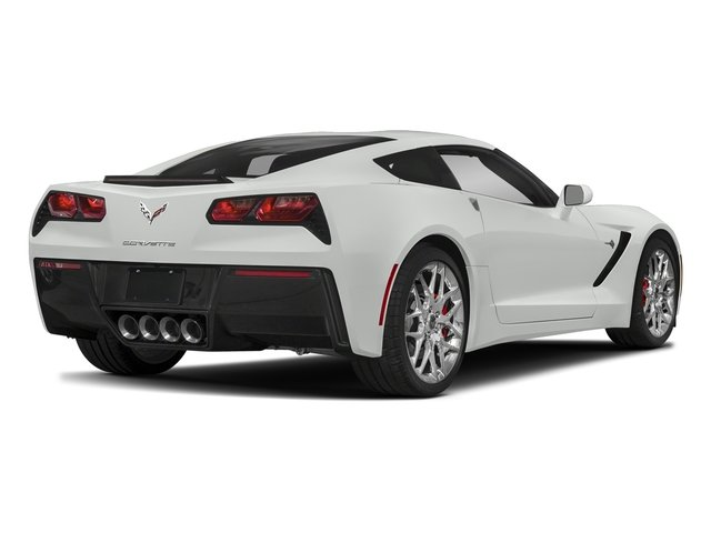 Arctic White 2018 Chevrolet Corvette Pictures Corvette 2dr Stingray Cpe w/2LT photos rear view