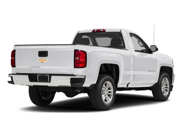 Summit White 2018 Chevrolet Silverado 1500 Pictures Silverado 1500 4WD Reg Cab 133.0 LT w/2LT photos rear view