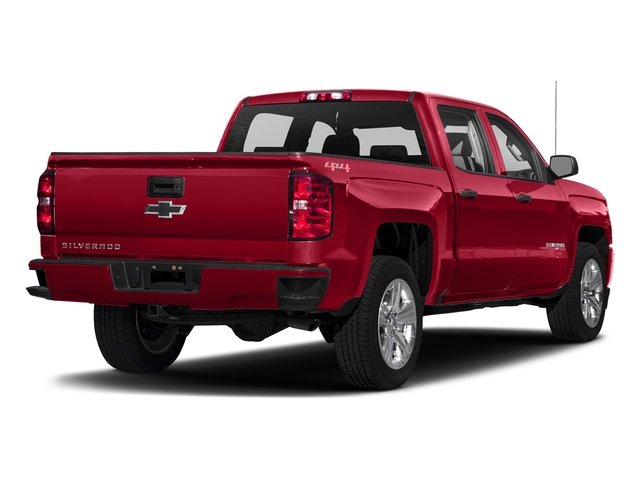 Red Hot 2018 Chevrolet Silverado 1500 Pictures Silverado 1500 4WD Crew Cab 143.5 Custom photos rear view