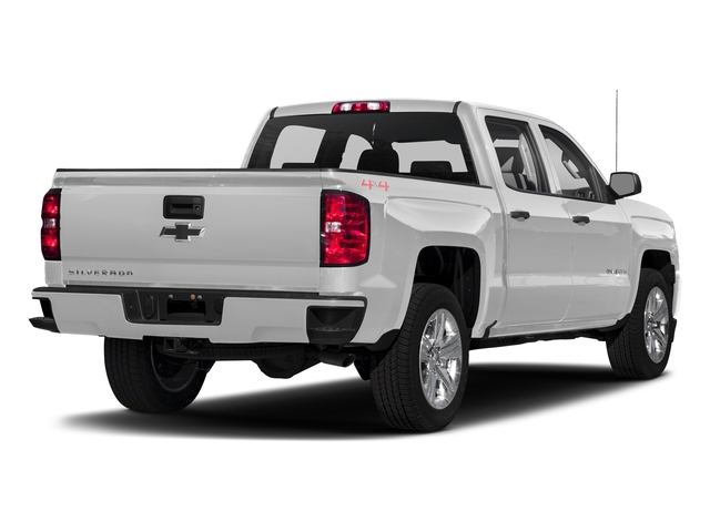 Silver Ice Metallic 2018 Chevrolet Silverado 1500 Pictures Silverado 1500 4WD Crew Cab 143.5 Custom photos rear view