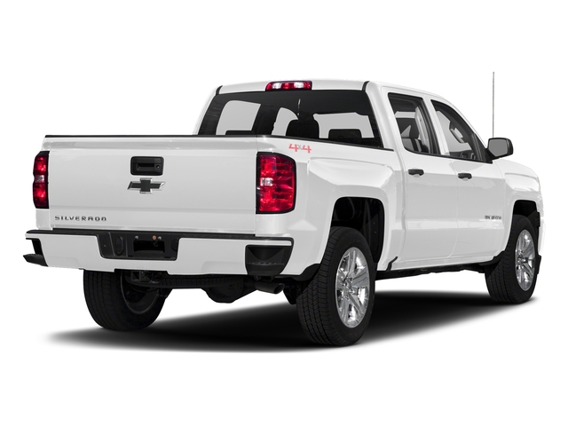 Summit White 2018 Chevrolet Silverado 1500 Pictures Silverado 1500 4WD Crew Cab 143.5 Custom photos rear view