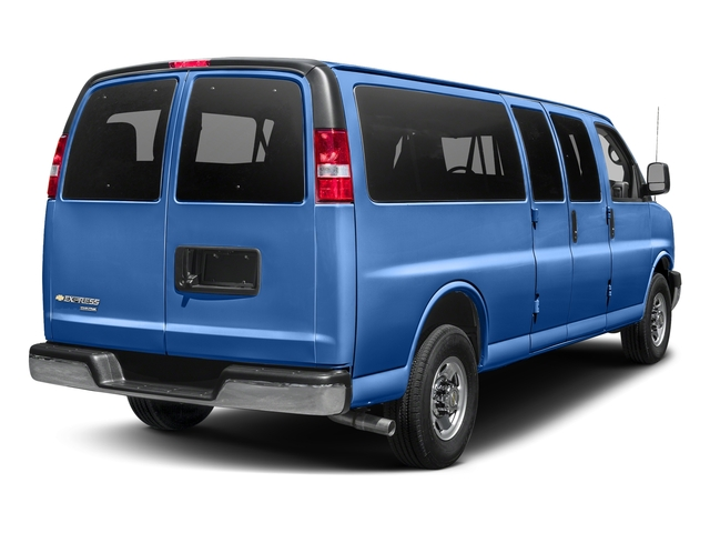 Kinetic Blue Metallic 2018 Chevrolet Express Passenger Pictures Express Passenger RWD 3500 155 LT photos rear view