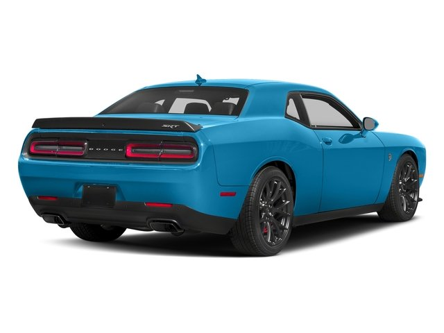 B5 Blue Pearlcoat 2018 Dodge Challenger Pictures Challenger SRT Hellcat RWD photos rear view