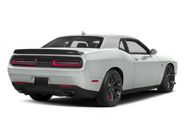 White Knuckle Clearcoat 2018 Dodge Challenger Pictures Challenger SRT Hellcat RWD photos rear view