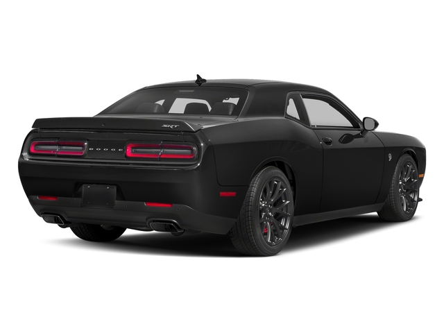 Pitch Black Clearcoat 2018 Dodge Challenger Pictures Challenger SRT Hellcat RWD photos rear view