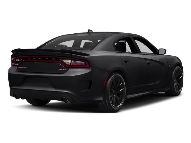 Pitch Black Clearcoat 2018 Dodge Charger Pictures Charger SRT Hellcat RWD photos rear view