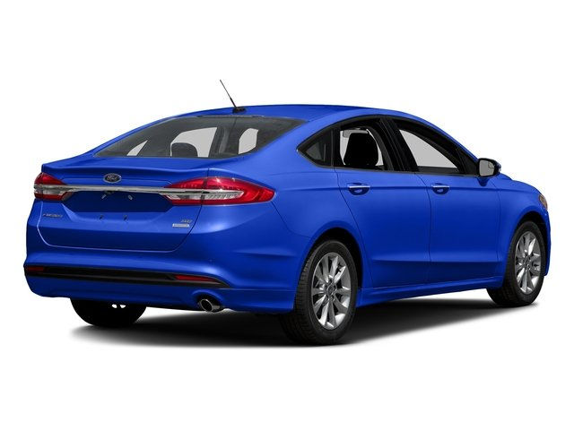 Blue Metallic 2018 Ford Fusion Pictures Fusion SE FWD photos rear view