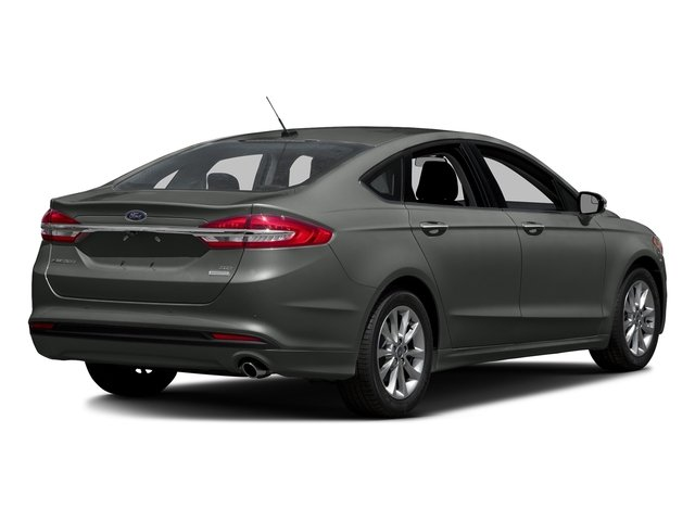 Magnetic Metallic 2018 Ford Fusion Pictures Fusion SE FWD photos rear view