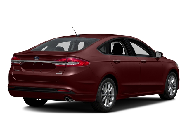 Burgundy Velvet Metallic Tinted Clearcoat 2018 Ford Fusion Pictures Fusion SE FWD photos rear view
