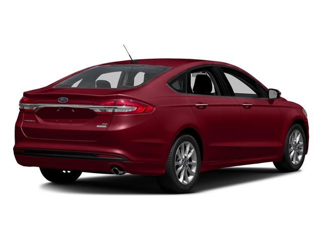 Ruby Red Metallic Tinted Clearcoat 2018 Ford Fusion Pictures Fusion SE FWD photos rear view