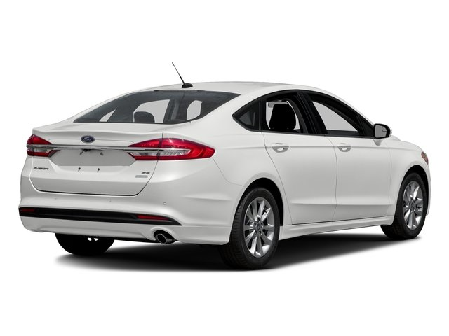 Oxford White 2018 Ford Fusion Pictures Fusion SE FWD photos rear view