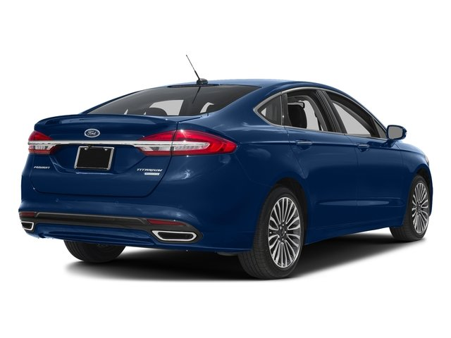 Lightning Blue 2018 Ford Fusion Pictures Fusion Titanium AWD photos rear view