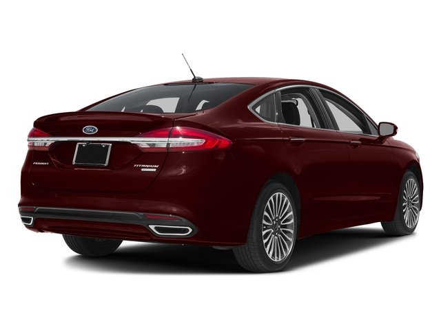 Burgundy Velvet Metallic Tinted Clearcoat 2018 Ford Fusion Pictures Fusion Titanium AWD photos rear view
