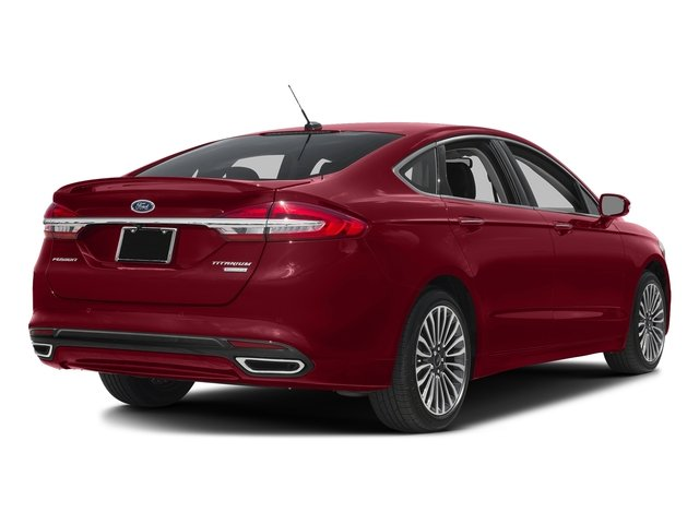 Ruby Red Metallic Tinted Clearcoat 2018 Ford Fusion Pictures Fusion Titanium AWD photos rear view