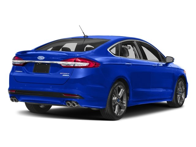 Blue Metallic 2018 Ford Fusion Pictures Fusion Sport AWD photos rear view