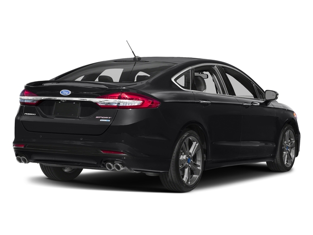Shadow Black 2018 Ford Fusion Pictures Fusion Sport AWD photos rear view