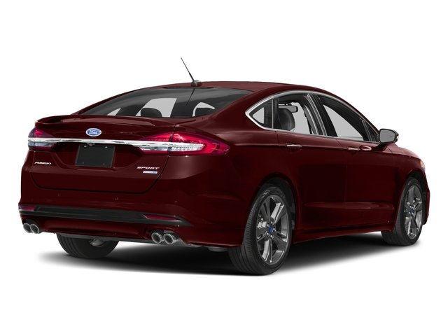 Burgundy Velvet Metallic Tinted Clearcoat 2018 Ford Fusion Pictures Fusion Sport AWD photos rear view