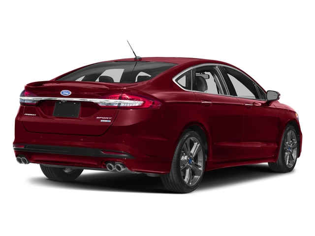 Ruby Red Metallic Tinted Clearcoat 2018 Ford Fusion Pictures Fusion Sport AWD photos rear view