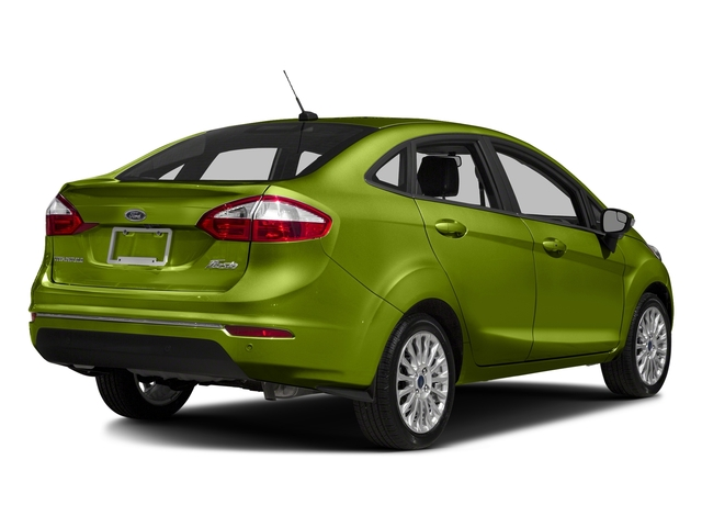 Outrageous Green Metallic Tinted Clearcoat 2018 Ford Fiesta Pictures Fiesta Titanium Sedan photos rear view