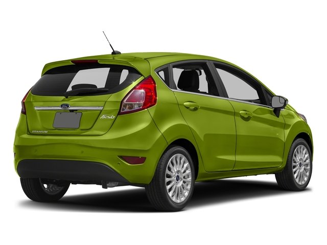 Outrageous Green Metallic Tinted Clearcoat 2018 Ford Fiesta Pictures Fiesta Titanium Hatch photos rear view