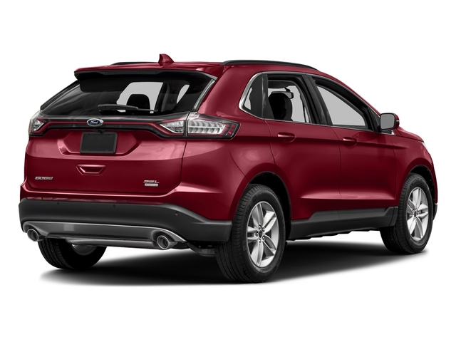 Ruby Red Metallic Tinted Clearcoat 2018 Ford Edge Pictures Edge Utility 4D Titanium 2WD V6 photos rear view