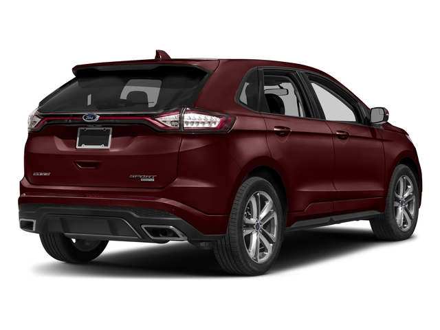 Burgundy Velvet Metallic Tinted Clearcoat 2018 Ford Edge Pictures Edge Sport AWD photos rear view