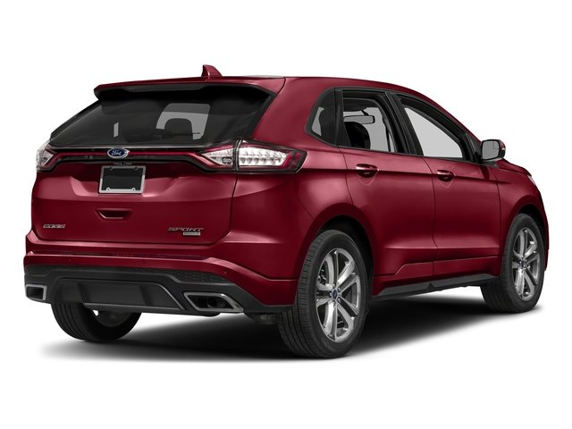 Ruby Red Metallic Tinted Clearcoat 2018 Ford Edge Pictures Edge Sport AWD photos rear view