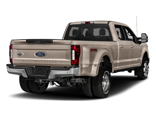 White Gold Metallic 2018 Ford Super Duty F-350 DRW Pictures Super Duty F-350 DRW Crew Cab King Ranch 2WD photos rear view