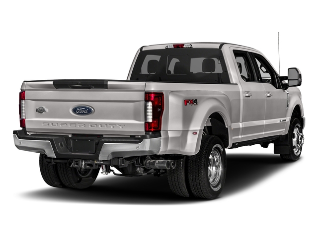 White Platinum Metallic Tri-Coat 2018 Ford Super Duty F-350 DRW Pictures Super Duty F-350 DRW Crew Cab King Ranch 2WD photos rear view