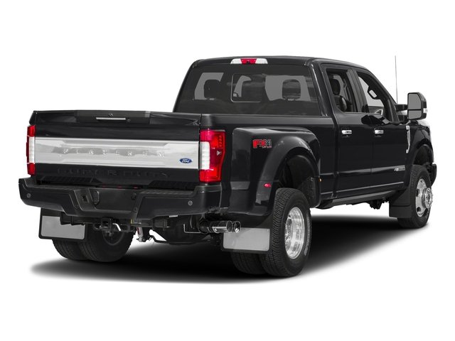Shadow Black 2018 Ford Super Duty F-350 DRW Pictures Super Duty F-350 DRW Platinum 4WD Crew Cab 8' Box photos rear view