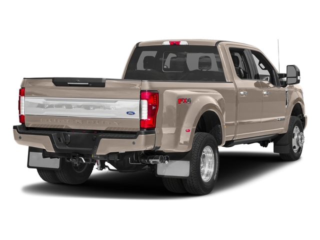 White Gold Metallic 2018 Ford Super Duty F-350 DRW Pictures Super Duty F-350 DRW Platinum 4WD Crew Cab 8' Box photos rear view