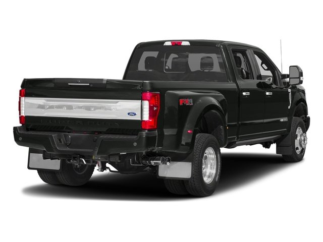 Magnetic Metallic 2018 Ford Super Duty F-350 DRW Pictures Super Duty F-350 DRW Platinum 4WD Crew Cab 8' Box photos rear view