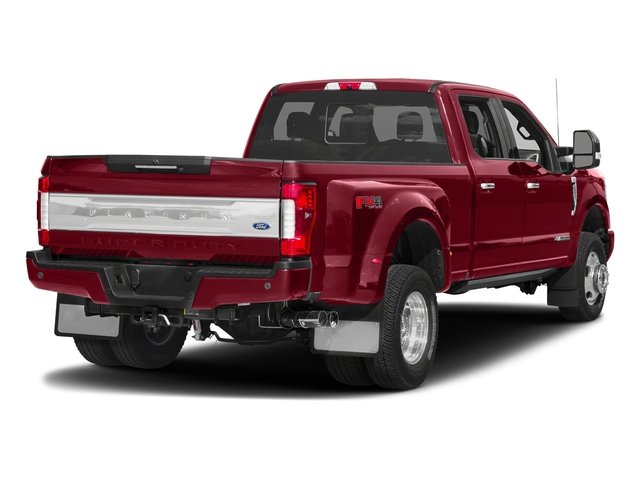 Ruby Red Metallic Tinted Clearcoat 2018 Ford Super Duty F-350 DRW Pictures Super Duty F-350 DRW Platinum 4WD Crew Cab 8' Box photos rear view