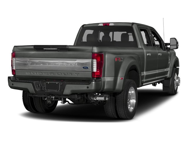 Magnetic Metallic 2018 Ford Super Duty F-450 DRW Pictures Super Duty F-450 DRW Platinum 2WD Crew Cab 8' Box photos rear view