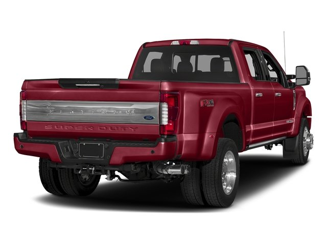 Ruby Red Metallic Tinted Clearcoat 2018 Ford Super Duty F-450 DRW Pictures Super Duty F-450 DRW Platinum 2WD Crew Cab 8' Box photos rear view