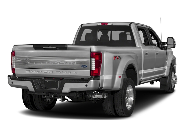 Ingot Silver Metallic 2018 Ford Super Duty F-450 DRW Pictures Super Duty F-450 DRW Platinum 2WD Crew Cab 8' Box photos rear view