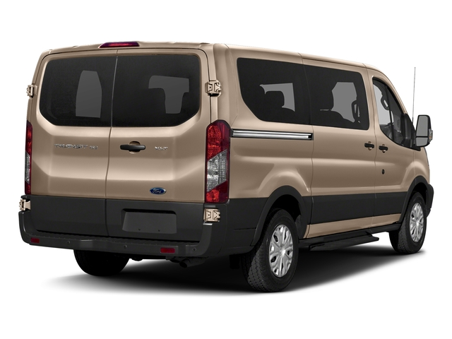 White Gold Metallic 2018 Ford Transit Passenger Wagon Pictures Transit Passenger Wagon Passenger Van XLT Low Roof photos rear view