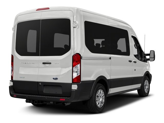 Oxford White 2018 Ford Transit Passenger Wagon Pictures Transit Passenger Wagon Passenger Van XL Medium Roof photos rear view