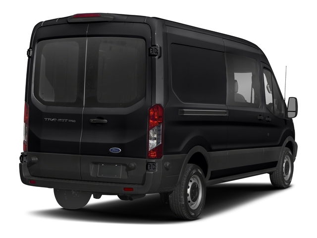 Shadow Black 2018 Ford Transit Van Pictures Transit Van T-250 148 Med Rf 9000 GVWR Dual Dr photos rear view